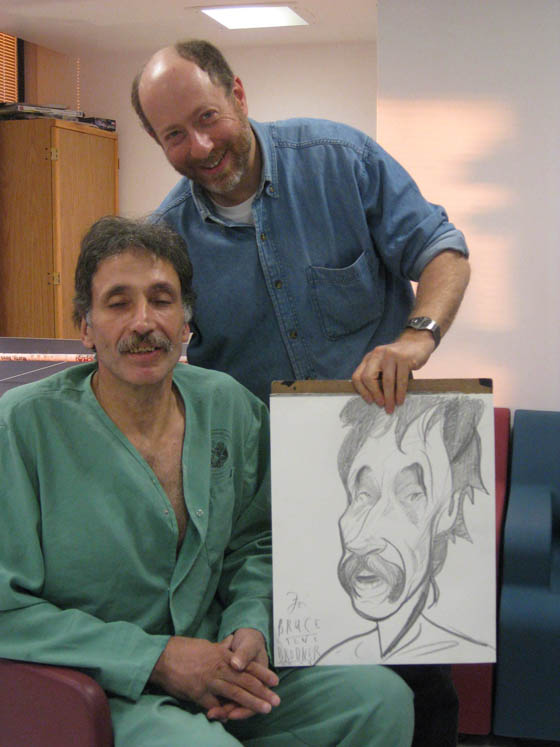 Drawing Bruce at the VA