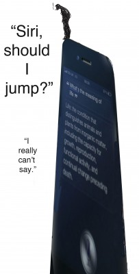 Siri, should I jump? copy